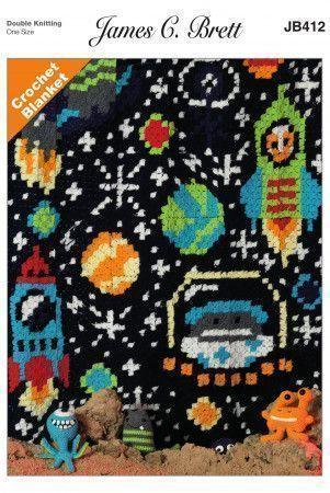 Space Blanket in James C. Brett Top Value DK (JB412)