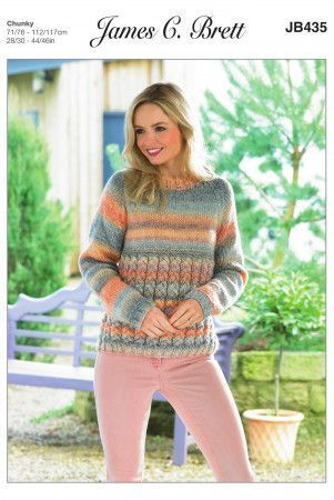 Sweater in James C. Brett Marble Chunky (JB435)