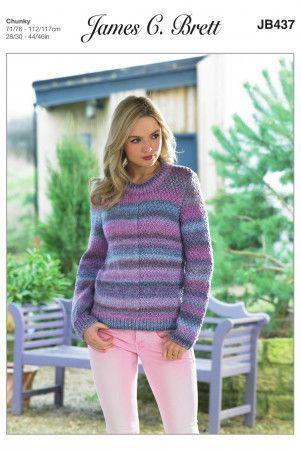 Sweater in James C. Brett Marble Chunky (JB437)