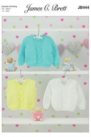 Sweater and Slipover in James C. Brett Supreme Baby DK (JB444)