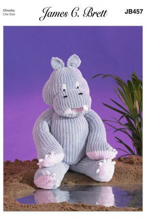 Hippo in James C. Bretty Flutterby Chunky (JB457)
