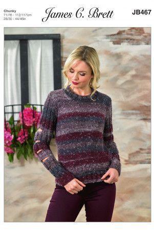 Sweaters in James C. Brett Tuscany Chunky (JB467)