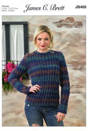 Sweater in James C. Brett Tuscany Chunky (JB469)