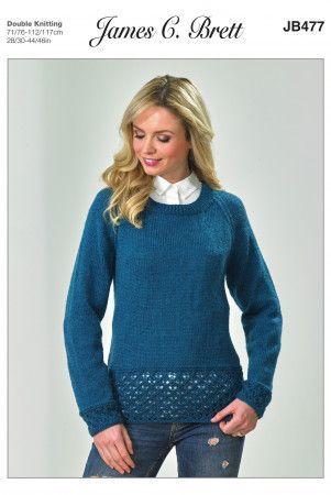 Sweater in James C. Brett DK with Merino (JB477)
