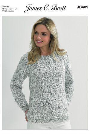 Sweater in James C. Brett Tranquil Chunky (JB489)