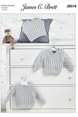 Sweaters and Slipover in James C. Brett Baby DK (JB516)