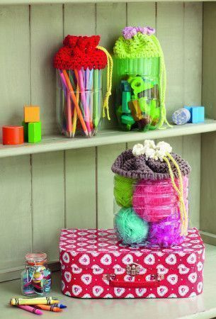 Drawstring Jar Cover Crochet Patterns - The Knitting Network