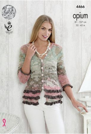 Top and Cardigan in King Cole Opium Palette and Bamboo Cotton DK (4466)