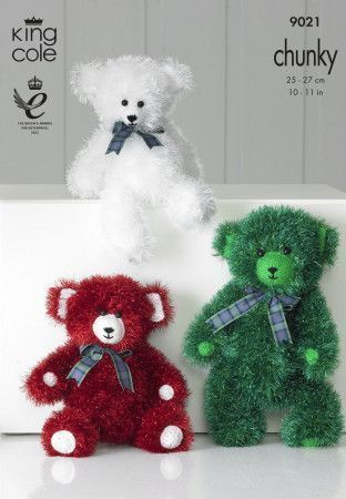Teddies in King Cole Tinsel Chunky (9021)