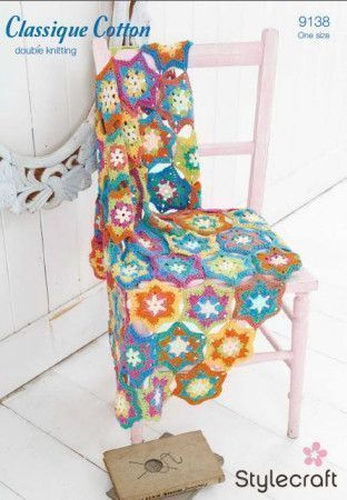 Throw in Stylecraft Classique Cotton DK (9138)