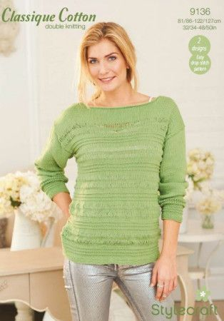Sweater and Top in Stylecraft Classique Cotton DK (9136)