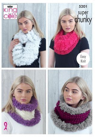 Cowls in King Cole Tufty and Big Value Super Chunky (5201)