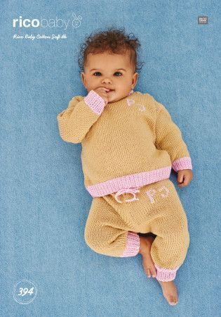Sweater and Trousers in Rico Baby Cotton Soft DK (394)