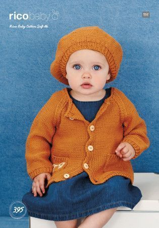 Jacket and Beret in Rico Baby Cotton Soft DK (395)