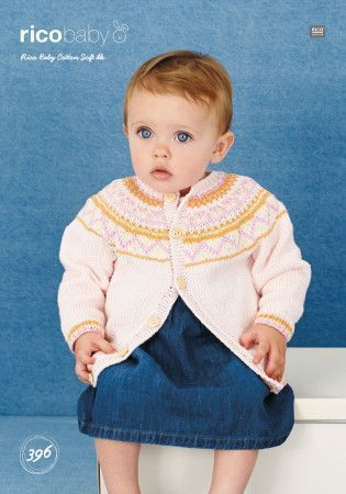 Jacket in Rico Baby Cotton Soft DK (396)