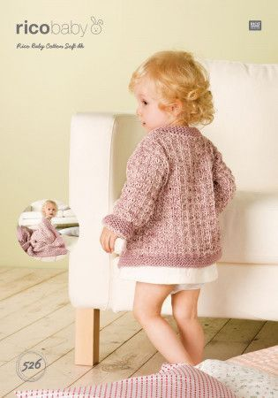 Cardigan and Blanket in Rico Baby Cotton Soft DK (526)