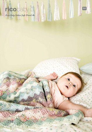 Blanket in Rico Cotton Soft DK (534)