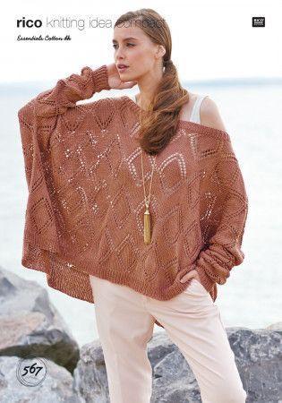 Sweater in Rico Essentials Cotton DK (567)
