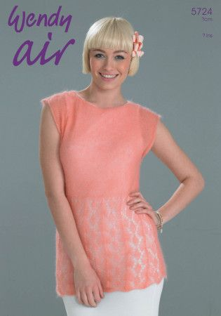 Lacy Tee in Wendy Air (5724)
