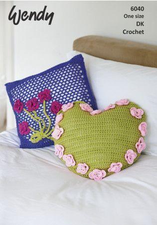 Crochet Cushions in Wendy Love It DK (6040)