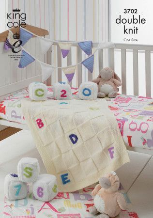 Blocks, Bunting and Blanket in King Cole Comfort Baby DK (3702)