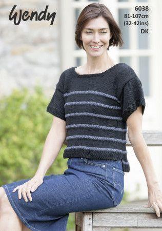 Striped T-Shirt in Wendy Love It DK (6038)