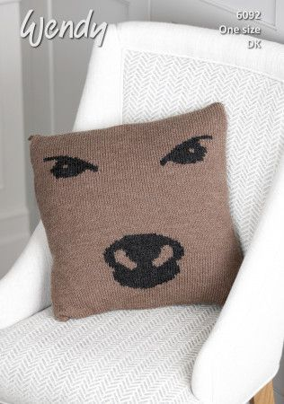 Cow Cushion in Wendy With Wool DK (6092)