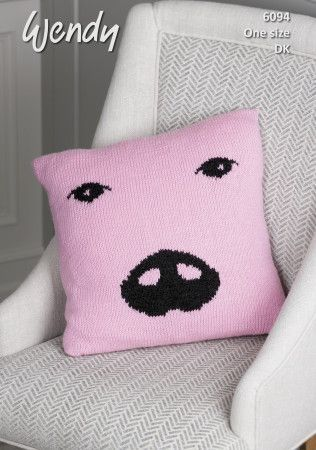 Pig Cushion in Wendy With Wool DK (6094)