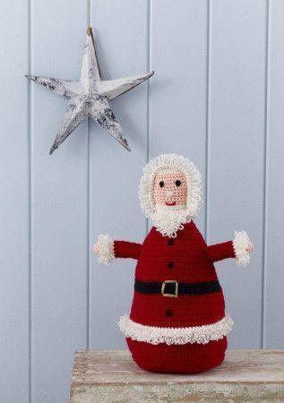 Jolly Santa Toy Crochet Pattern
