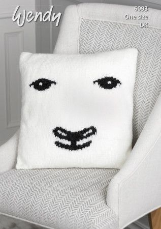 Sheep Cushion in Wendy With Wool DK (6093)