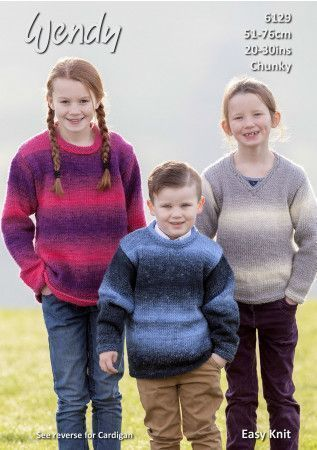 Sweaters and Cardigan in Wendy Stella Chunky (6129)