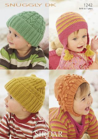 Baby's and Child's Hats in Sirdar Snuggly DK (1242)
