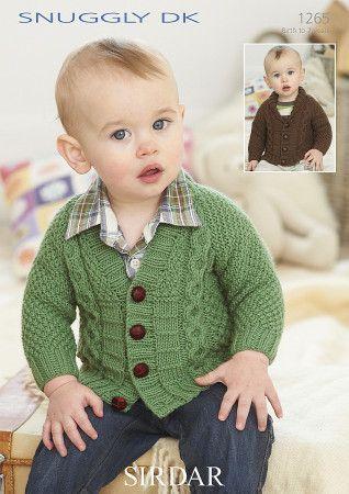 Sirdar Baby Cardigans Snuggly DK Knitting Pattern 1265