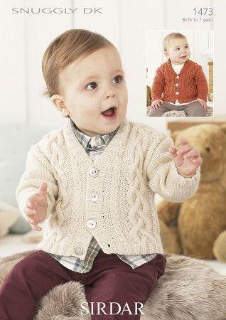 Sirdar Baby Cardigans Snuggly DK Knitting Pattern 1473