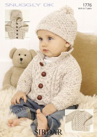 Sweater, Jackets and Hat in Sirdar Snuggly DK (1776)