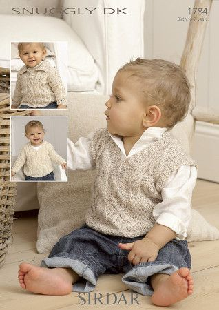 Sirdar Baby Sweaters & Tank Top Snuggly DK (1784)