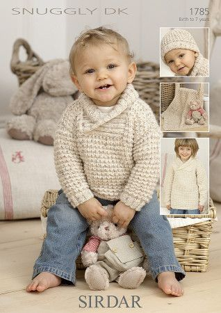 Sirdar Baby Sweaters, Blanket & Hat Snuggly DK (1785)