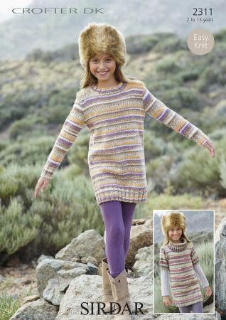 Sweater Dresses in Sirdar Crofter DK (2311)