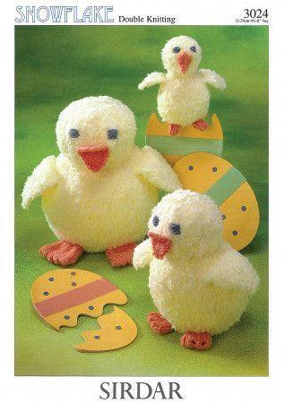 Chicks in Sirdar Snuggly Snowflake DK (3024)
