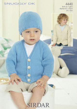 Boy's Cardigan, Hat and Blanket in Sirdar Snuggly DK (4440)