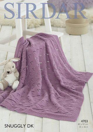 Blanket in Sirdar Snuggly DK (4703)