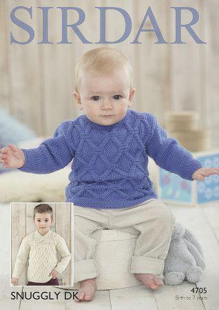 Boy's Sweaters in Sirdar Snuggly DK (4705)