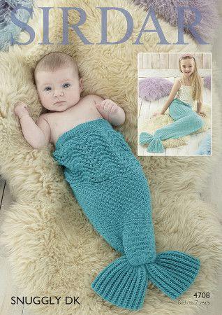 Mermaid Tail Snuggler in Sirdar Snuggly DK (4708)