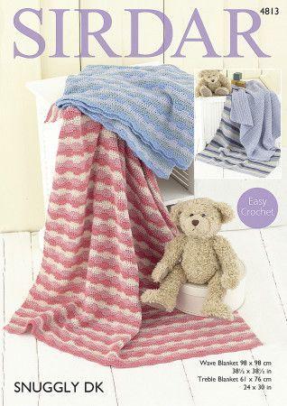 Blankets in Sirdar Snuggly DK (4813)