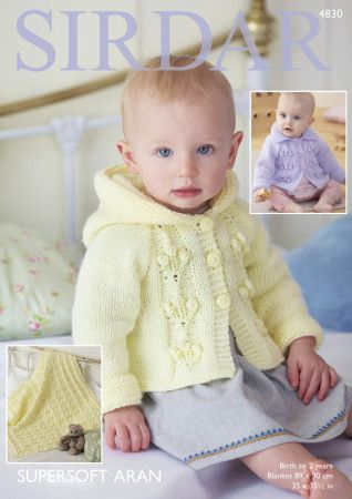 Jackets and Blanket kitted in Sirdar Supersoft Aran (4830)