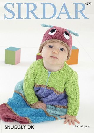 Sleeping Bag and Hat in Sirdar Snuggly DK (4877)