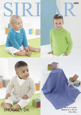 Boy's Sweaters, Cardigan and Blanket in Sirdar Snuggly DK (4880)