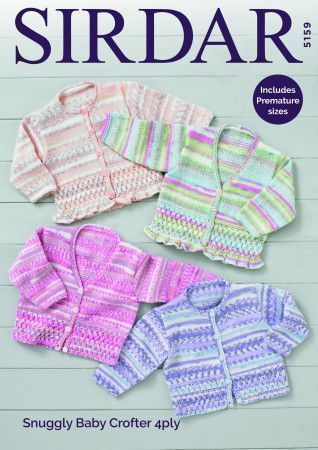 Cardigans in Sirdar Snuggly Baby Crofter 4 Ply (5159)