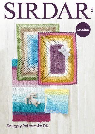 Blankets in Sirdar Snuggly Pattercake DK (5189)