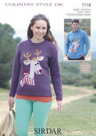 Reindeer Sweater in Sirdar Country Style DK (7118)
